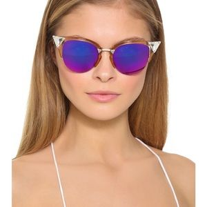 f392e98332844 Fendi Accessories - Fendi Women s Iridia Crystal Corner Sunglasses